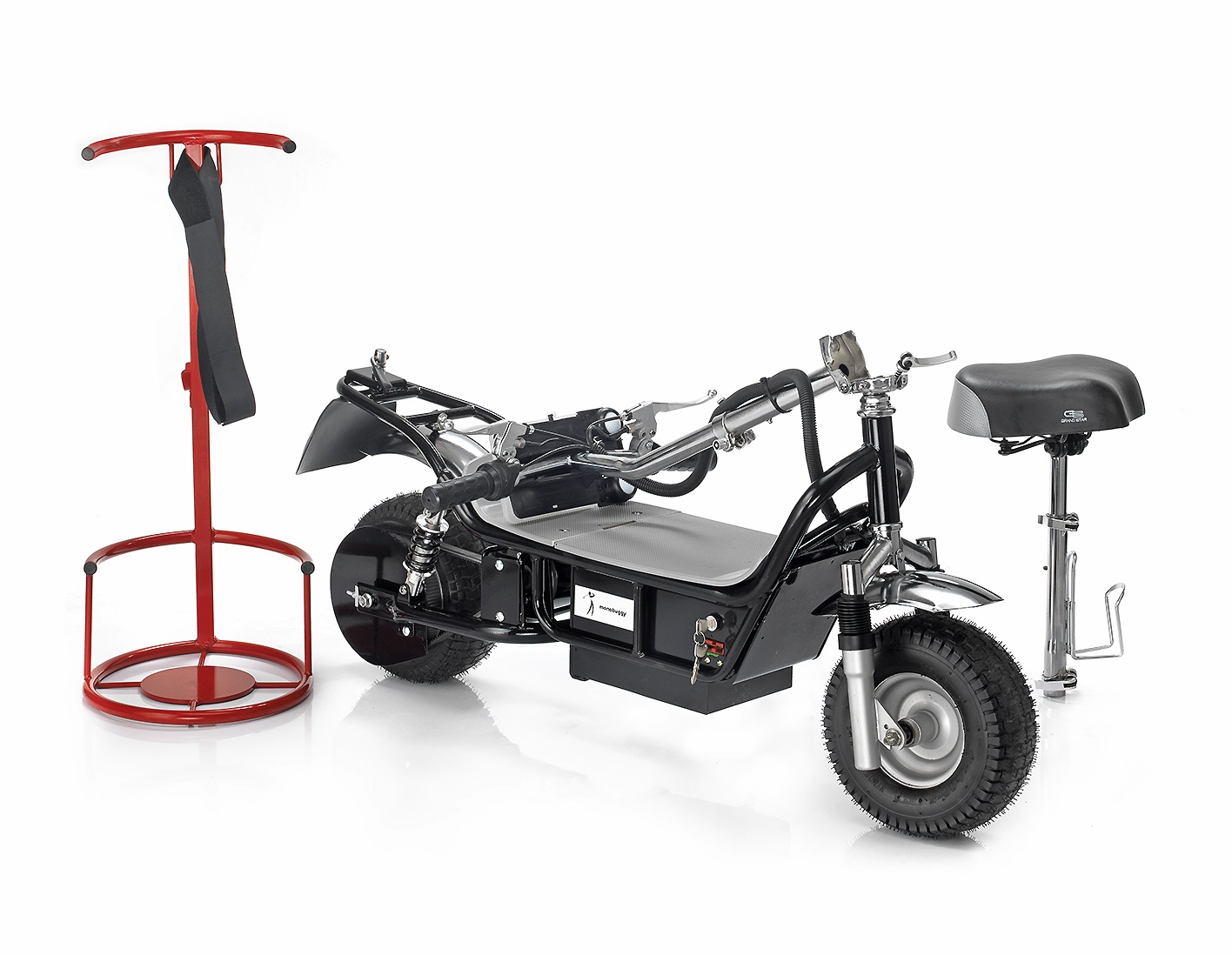 Scooter folded with Rack and Seat-tube seperate